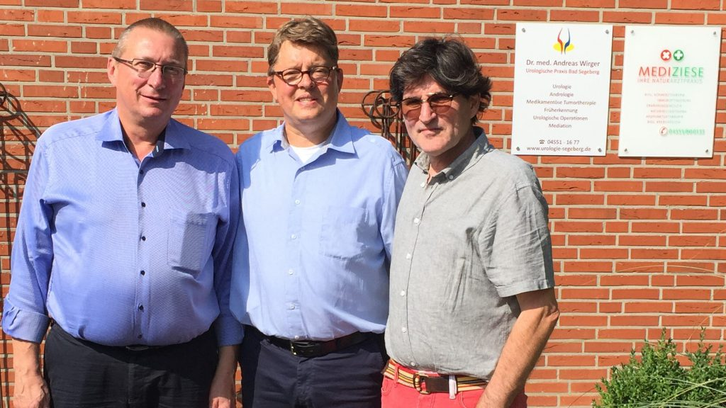 Dr. Andreas Wirger, Michael Denck und Dr. Wolfgang Ziese